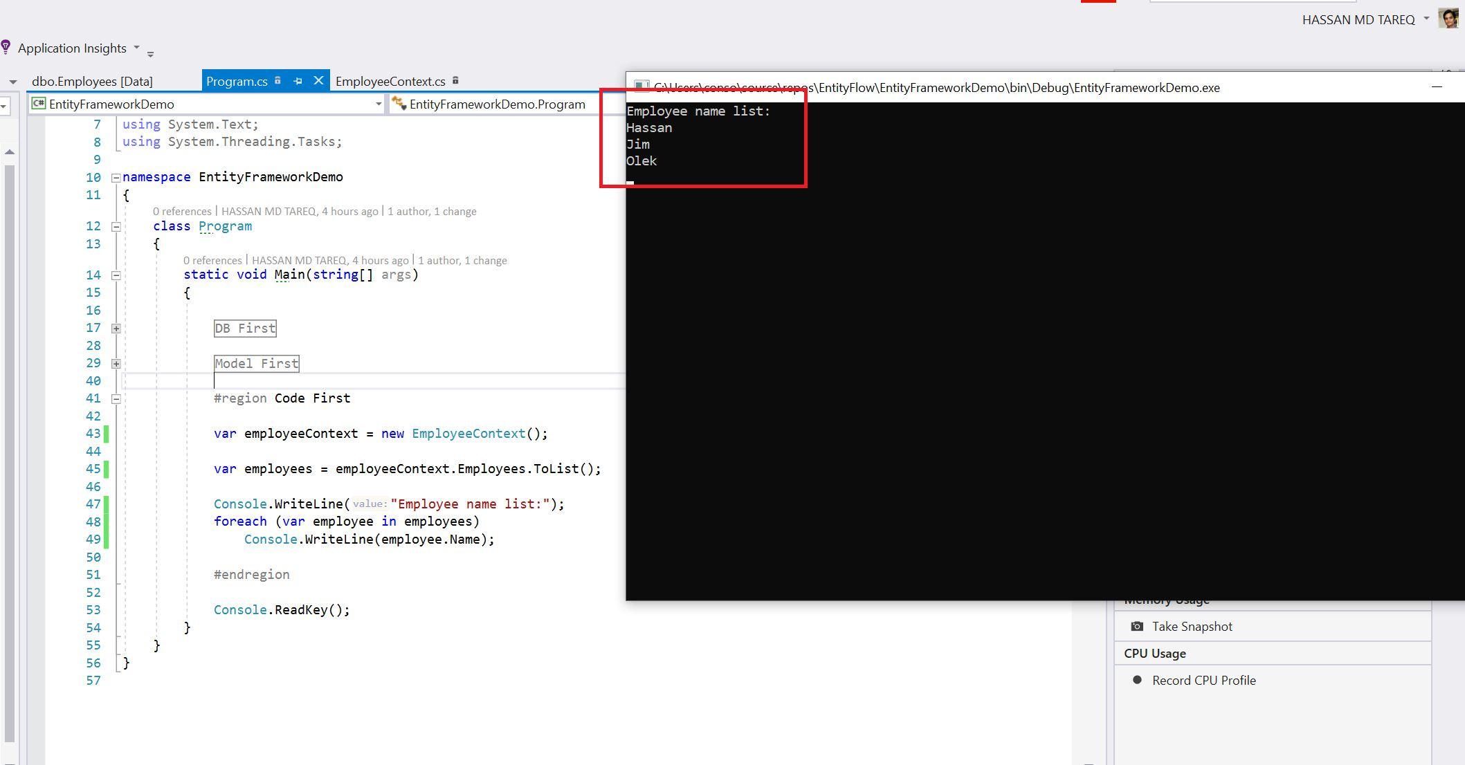Entity Framework Code Fisrt Approach - Creating edmx from DbContext Step 23